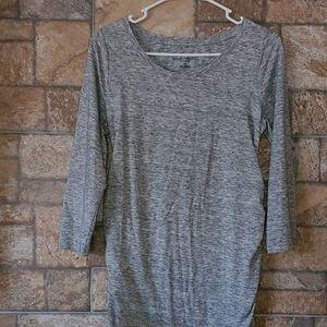 Liz lange maternity dress gray Heather S B5